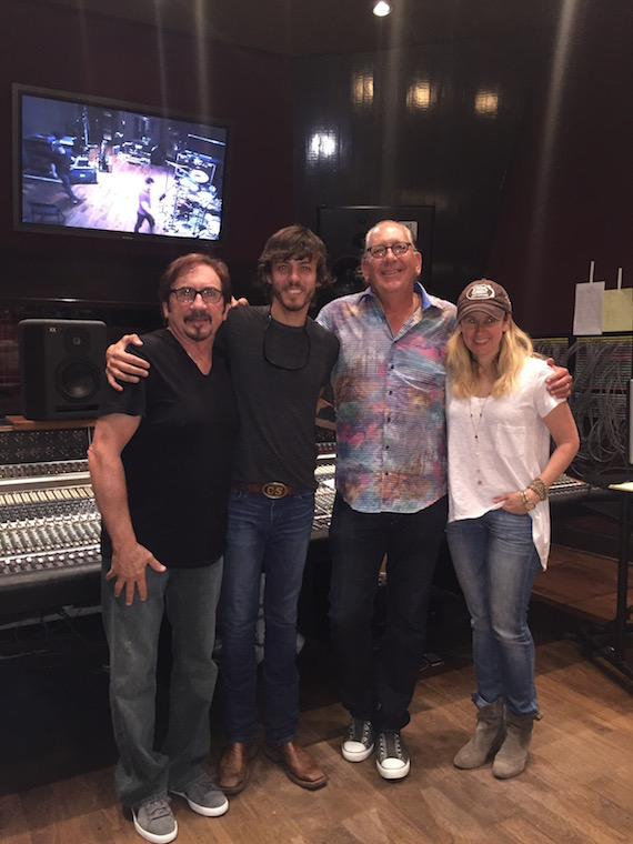 Producer Byron Gallimore, Chris Janson, President & CEO of WMN John Esposito and VP A&R, Cris Lacy