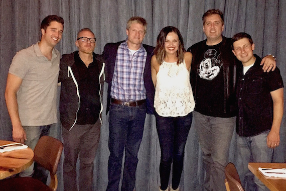 Pictured L-R: Kevin Lane (BMG, Creative Director); Myles Lewis (Manager – busbee, Inc.); Kos Weaver (BMG, Executive Vice President); Pearce; busbee; Daniel Lee (BMG, Senior Creative Director)