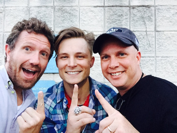 Pictured (L-R): Co-manager Christian Svendsen, Way Entertainment; Ballard and Danny Montana of WIL-St. Louis.