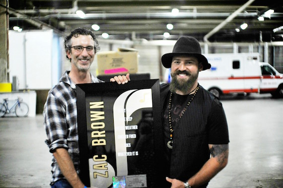 Pictured (L-R): NMPA's David Israelite and ZBB's Zac Brown.