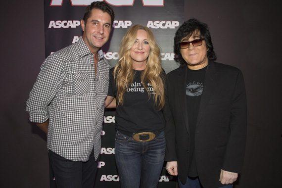 (L-R): ASCAP Nashville's Michael Martin, Lee Ann Womack, ASCAP EVP of Membership, John Titta,