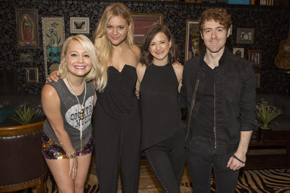 (L-R): RaeLynn, Kelsea Ballerini, Striking Matches' Sarah Zimmermann and Justin Davis