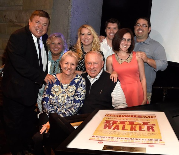 Jeff Walker and family on May 30, 2015, celebrating at the Country Music Hall of Fame and Museum's Nashville Cats: A Salute to Bill Walker. — with Terri Walker, Tessa Walker, Jeanine Walker, Jon Walker, Matt Watkins and Christy Walker-Watkins.