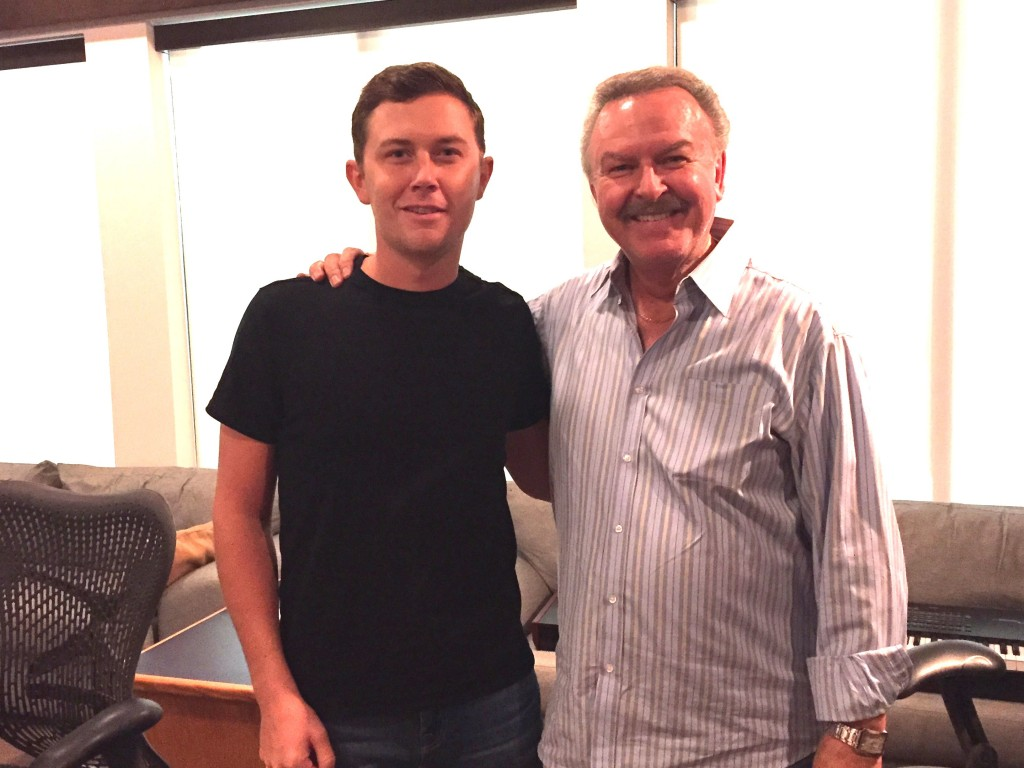 Pictured (L-R): Scotty McCreery and Charlie Chase.