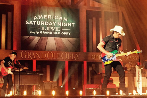 Brad Paisley on August 31 at the Opry filming. Photo: Opry