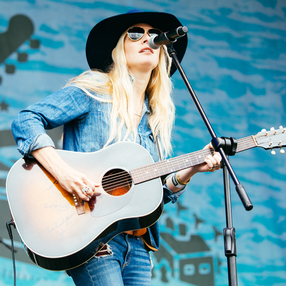 Holly Williams performs the first afternoon of Franklin, Tenn.'s Pilgrimage Music Festival. Photo: Terry Wyatt.