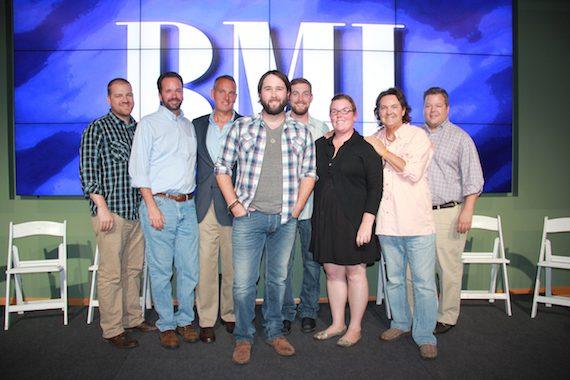 Pictured (L-R): Matt Cottingham (Ritholz Levy), Tim Stehli (HoriPro Entertainment Group), Michael O'Neill (BMI), Brinley Addington, Lee Krabel (HoriPro Entertainment Group), Courtney Crist (HoriPro Entertainment Group), Butch Baker (HoriPro Entertainment Group), Bradley Collins (BMI)