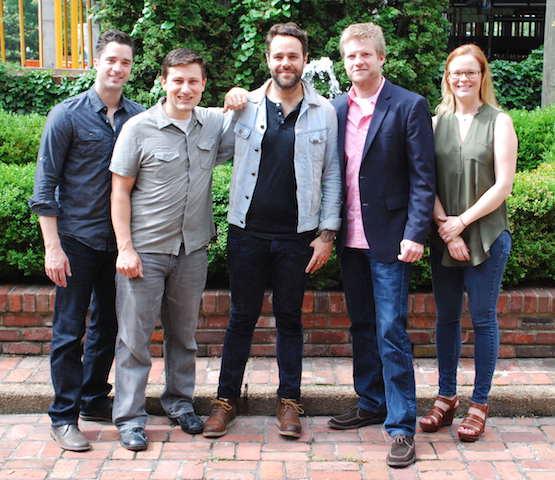Pictured L-R: Kevin Lane (BMG, Creative Director); Daniel Lee (BMG, Senior Creative Director; Joe Ginsberg; Kos Weaver (BMG, Executive Vice President); Sara Knabe (BMG, Senior Creative Director)
