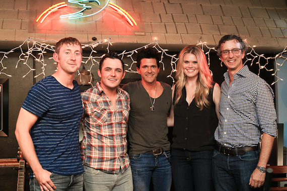 Pictured (L-R): Ashley Gorley, Cole Taylor, Michael Carter, Nicolle Galyon, NMPA CEO David Israelite.