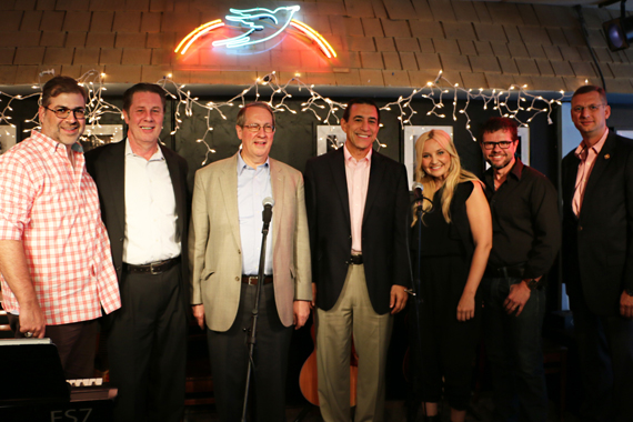 Pictured (L-R): songwriter Barry Dean, House Judiciary Committee Chairman Bob Goodlatte (VA), NSAI Executive Director Bart Herbison, Congressman Darrell Issa (CA) songwriters Heather Morgan, Lee Thomas Miller and Congressman Doug Collins (GA).