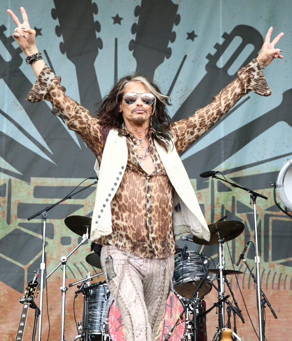 Steven Tyler Performs the second afternoon of Franklin, Tenn.'s Pilgrimage Festival. Photo: Terry Wyatt.