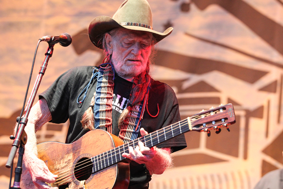 Willie Nelson performs the final night of Franklin, Tenn.'s Pilgrimage Festival. Terry Wyatt
