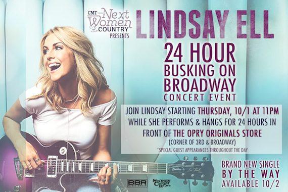 lindsay Ell busking event