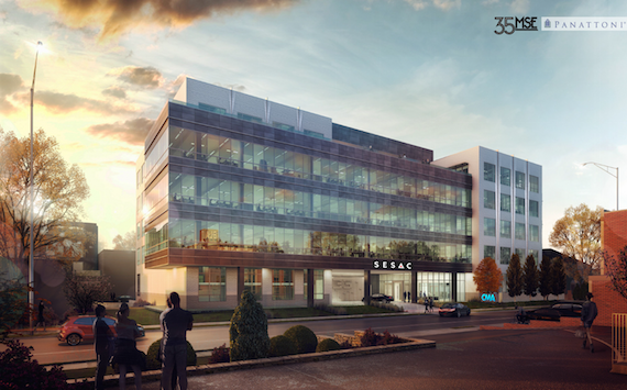 Rendering of 35MSE (Music Square East) building, currently under construction at 35 16th Avenue South. Photo: Courtesy of Panattoni Development Company