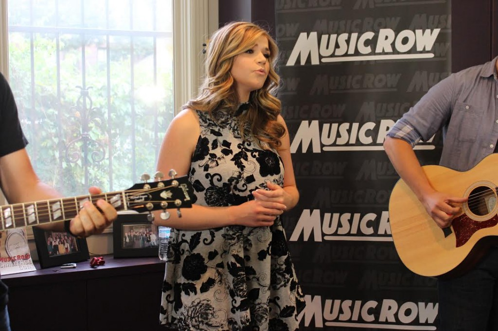Macy Martin performs for MusicRow staff.