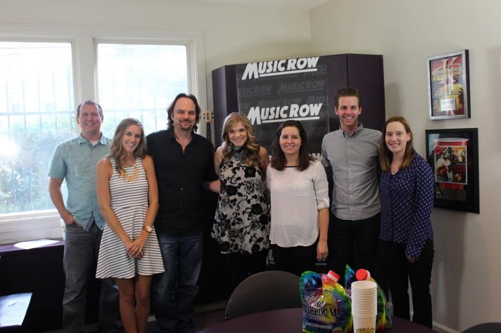 Macy Martin with MusicRow staffers.