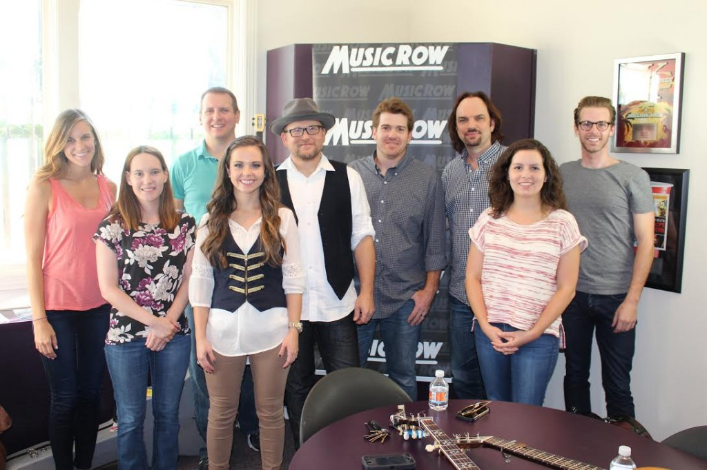 MusicRow staffers welcome Ron Block.