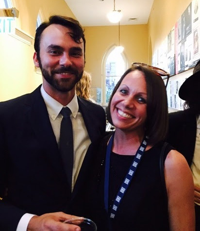 Americana musician Shakey Graves and Veronica Greene back stage at the 2015 Americana Honors & Awards Show on September 16, 2015.