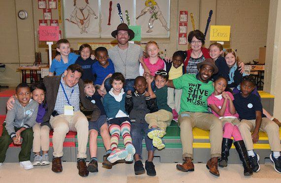 VH1 Save The Music Foundation Singer/Songwriter Drake White School Visit  - Nashville