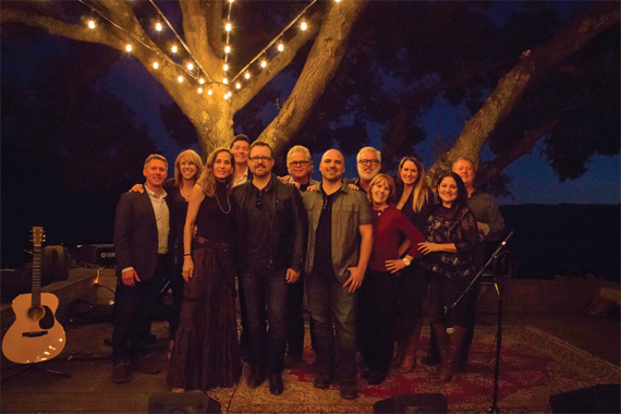 Pictured (l-r): SunTrust Bank's Earle Simmons, The Bluebird Cafe's Erika Wollam Nichols, Gargiulo Vineyards' Valerie Gargiulo, SunTrust Bank's Bryan Bolton, Deric Ruttan, Gargiulo Vineyards' Jeff Gargiulo, Jon Nite, Rivers Rutherford, Notes For Education's Debi Cali Leal, Gargiulo Vineyards' Sharon Sidhu and ASCAP's Alison Webber (Toczylowski) and Mike Sistad