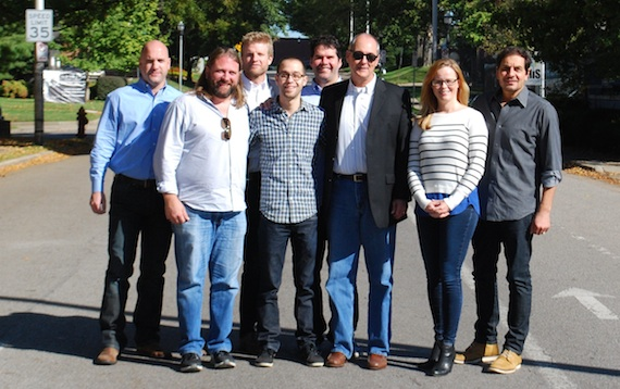 Pictured (L-R): Robert Filhart, ASCAP; Chip Petree, attorney, Ritholz/Levy; Kos Weaver, BMG; Ben Goldsmith, writer; Greg Gallo, Big Deal; Dale Bobo, Big Deal; Sara Knabe, BMG; Pete Robinson, Big Deal
