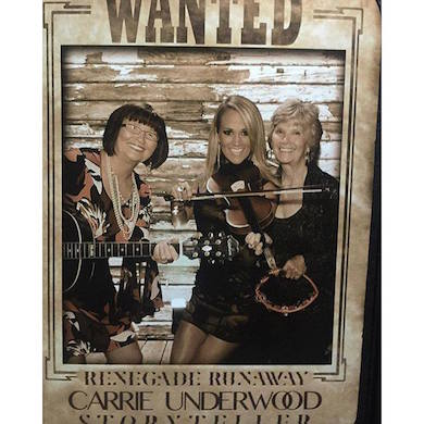 "Carrie Underwood celebrates with a fun photo in the ""Renegade Runaway"" room, with her mother and aunt during Underwood's album release party. Photo: Carrie Underwood/Facebook"