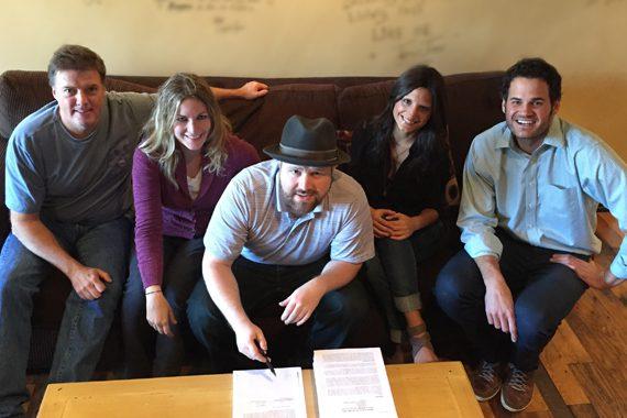 Pictured (L-R): Frank Liddell, Courtney Gregg, Dustin Christensen, Emily Schiraldi, Matthew Miller