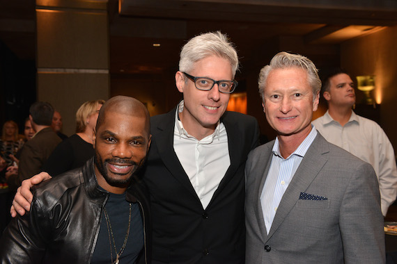 Pictured: (L-R): BMI songwriter Kirk Franklin, BMI songwriter and Songwriter of the Year – Artist award winner Matt Maher with Provident Label Group's Terry Hemmings.