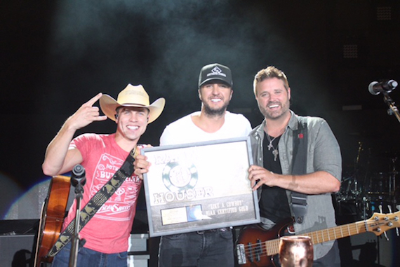 Pictured (L-R): Dustin Lynch, Luke Bryan, and Randy Houser.