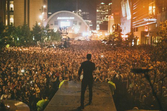Sam Hunt's Nashville street party on October 28, 2015. Photo: Steven Worster