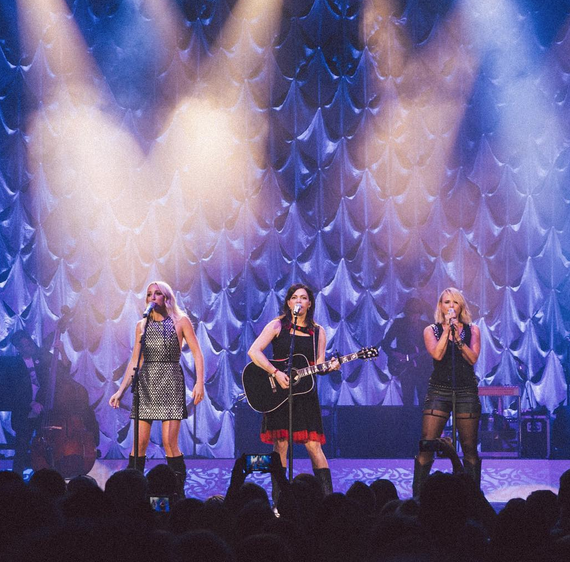 Pistol Annies makes a surprise appearance during a Miranda Lambert concert in Georgia. Photo: Miranda Lambert/Instagram.