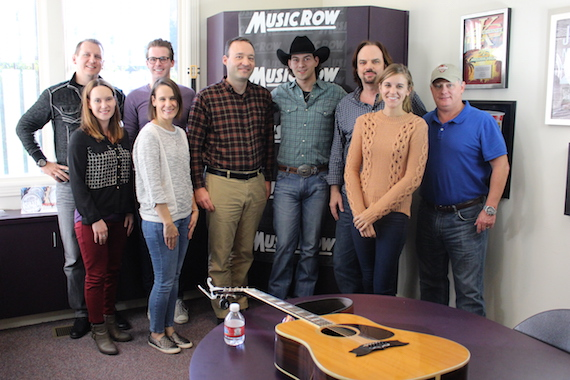 William Michael Morgan with MusicRow staffers.