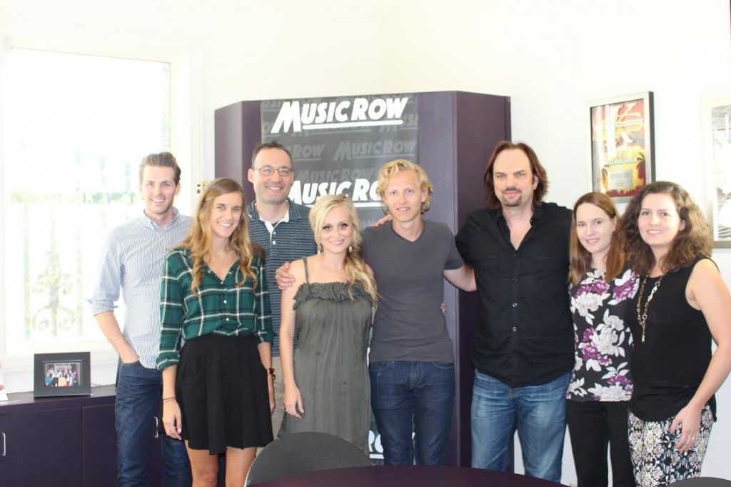 Makenna & Brock with MusicRow staffers.