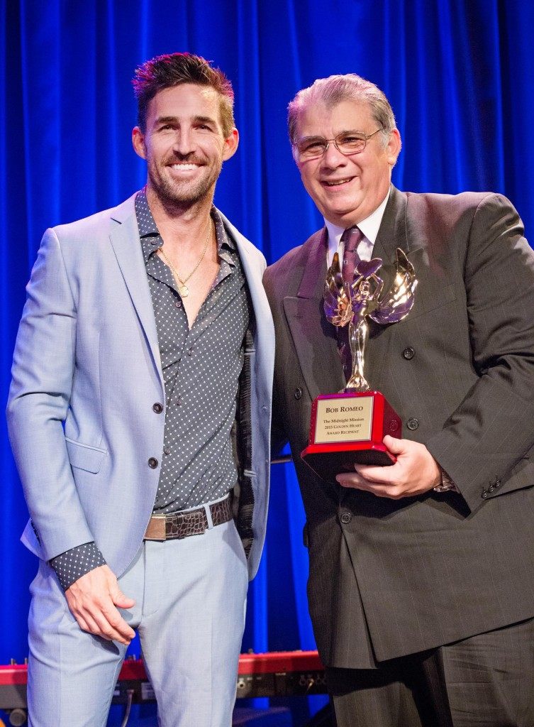 Jake Owen and Bob Romeo. Photo: Melanie Catalano Photography/Courtesy of The Midnight Mission