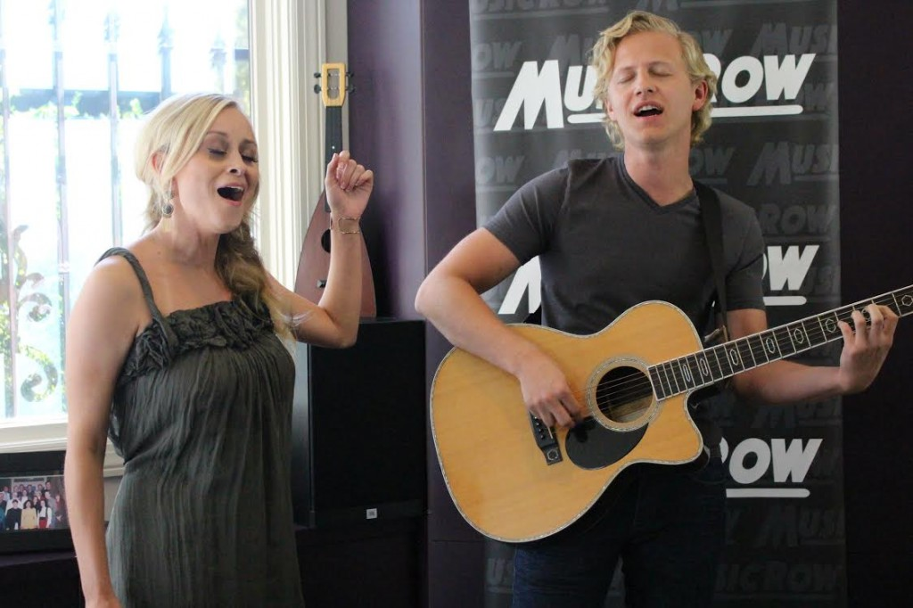 Makenna & Brock perform for MusicRow staffers.