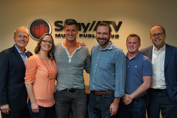 Pictured (L-R): Troy Tomlinson, Sony/ATV Nashville; Abbey Adams, Sony/ATV Nashville; Brad Rempel; Josh Van Valkenburg, Sony/ATV Nashville; Jason Turner, Keller Turner Ruth Andrews & Ghanem, PLLC; Danny Strick, Sony/ATV New York.