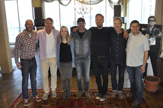 Pictured (L-R): Austen Adams, Dickinson Wright; Chuck Fleckenstein, GM and COO, Still Working Music; Chelsea Kent, Creative Director, Still Working Music; Jon Randall; Alex Orbison, President, Still Working Music; Tommy Lee James, CCO, Still Working Music; Daniel Lee, Sr. Creative Director, BMG.