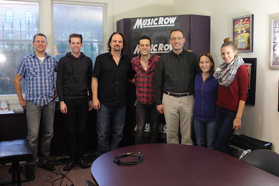 Ryan Kinder with MusicRow staffers.