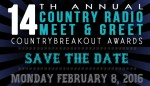 Save The Date: MusicRow's 2016 'Country Radio Meet & Greet and CountryBreakout Awards'