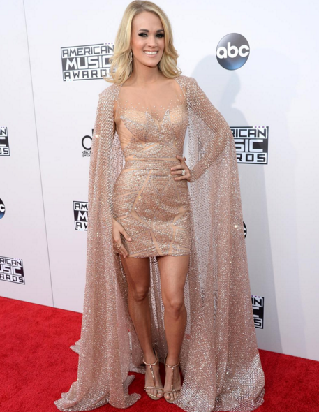Carrie Underwood on the American Music Awards Red Carpet. Photo: AMA Instagram