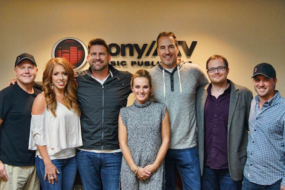Pictured (L-R): Troy Tomlinson, Sony/ATV; Hannah Williams, Sony/ATV; Tommy Cecil; Missi Gallimore; Tom Luteran, Sony/ATV; Noah McPike, attorney; Ed Williams, Sony/ATV.