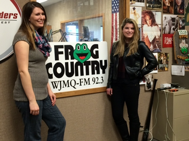 Pictured (L-R): Kayla  McKenzie, On Air Personality (WJMQ-FM), and Allie Louise