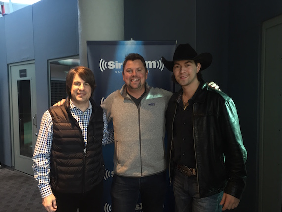 Pictured (L -R): Jimmy Wayne, Storme Warren (Sirius XM) and William Michael Morgan