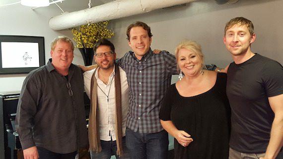 Pictured (L-R): ASCAP's Mike Sistad, Chris DeStefano, Matt Jenkins, Leslie Satcher and Ashley Gorley.