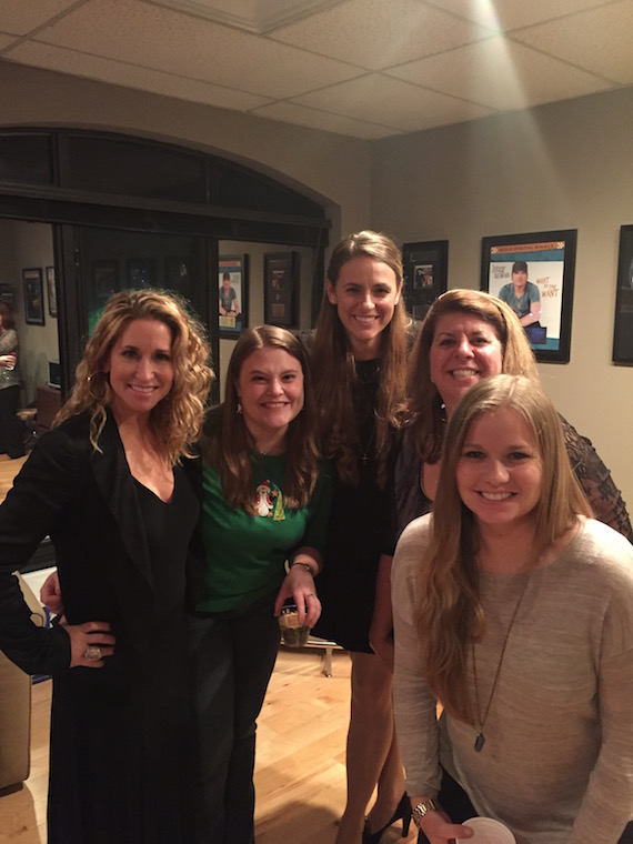 (L-R): Trick Pony's Heidi Newfield; Jill Curry, Client Manager; Dorothy Leonhardt, Client Manager, Junior Partner; Becky Harris, Principal; Amy Handegard, Client Manager.