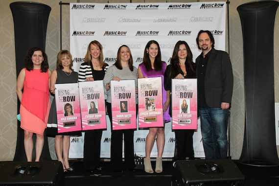 Pictured (L-R): MusicRow's Sarah Skates with Rising Women on the Row honorees Kele Currier, Tiffany Dunn, Dawn Gates, Jensen Sussman and Lou Taylor, and MusicRow's Sherod Robertson. Photo: Moments By Moser.