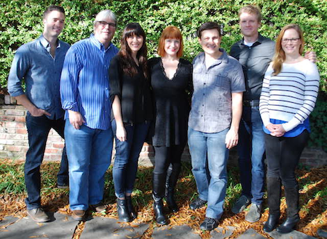 Pictured Left To Right: Kevin Lane (BMG, Creative Director);  Chris Oglesby (BMG, VP – Creative); Ashley Wilcoxson (Thirty Tigers – Manager); Leigh Nash; Daniel Lee (BMG, Senior Creative Director); Kos Weaver (BMG, Executive Vice President); Sara Knabe (BMG, Senior Creative Director)