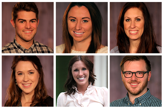 Pictured (clockwise, from top left): Gentry Alverson, Janet Edbrooke, Kathryn Nauman, Jon Sands, Lindsay Potts, Taylor Payne.