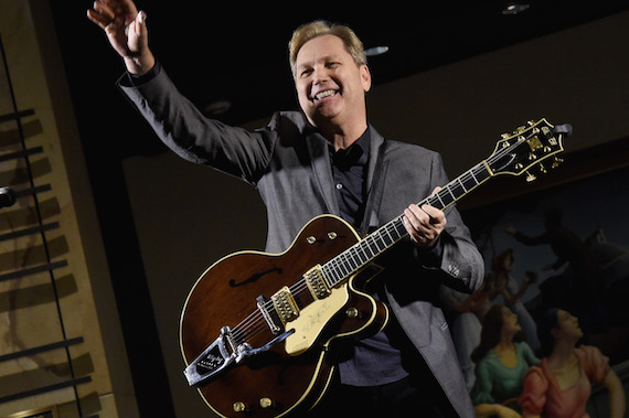 Musician Steve Wariner performs at the American Sound & Beauty: Guitars from the Bachman-Gretsch Collection exhibit opening.