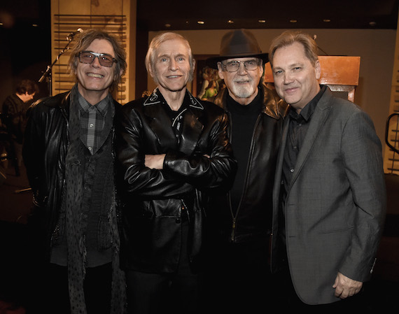 Pictured (L-R): Tom Peterson of Cheap Trick, Fred Gretsch, Duane Eddy, and Steve Wariner.